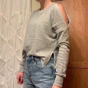 Cute Shoulder Cut Out Sweater